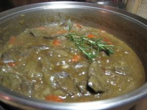 Lamb's fry (liver) with onions, capsicum and gravy
