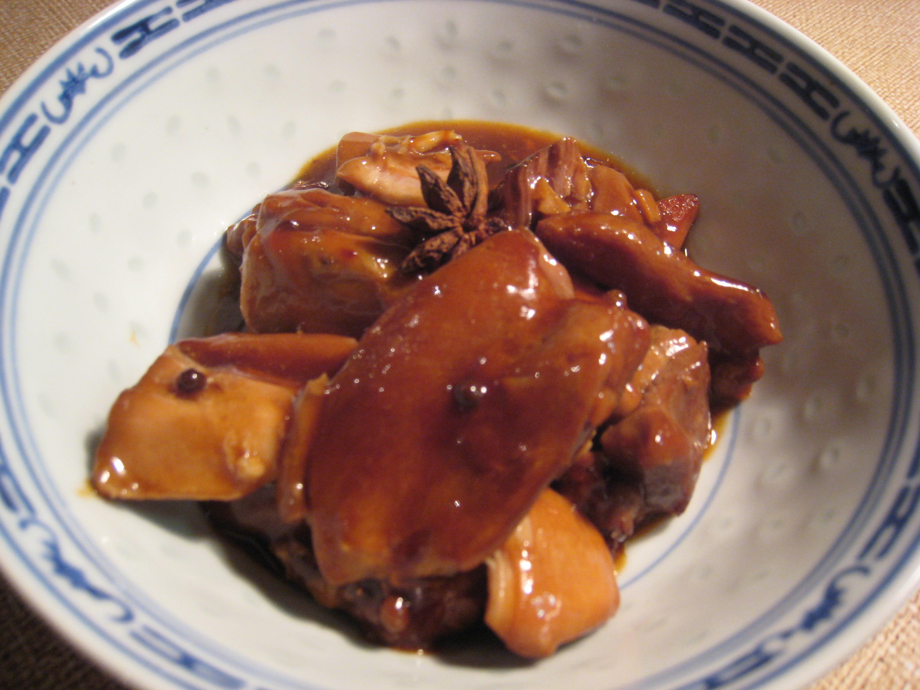 Winter dinners: Braised chicken with ginger and star anise
