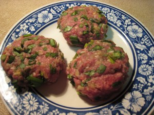 Lamb burger patties